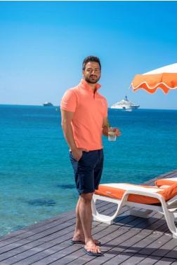 Baronet Custom Fit Poloshirt mit Logo-Stickerei Apricot