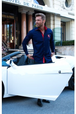 Baronet Slim Fit Herrenhemd mit Kentkragen