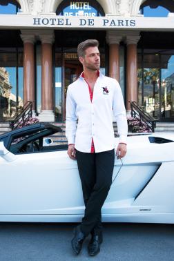 Baronet Slim Fit Hemd in den Farben Monacos